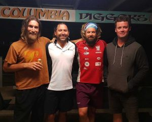 Jake Parton, Tony Arthur, Dave Arthur and Darren Cross have been playing soccer together and against each other for over 30 years.
