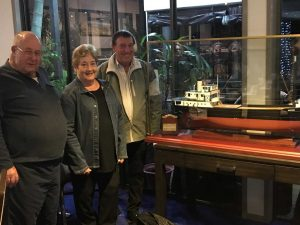 Gary Splatt, Maureen and Sam Mitchell from 7th Wave are happy to have the Natone on display at the Sports Club for everyone in Rainbow Beach to enjoy
