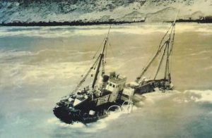The Natone had a long and prestigious history before being beached off Rainbow in 1959