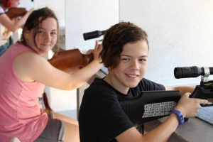 SSAA Tin Can Bay Junior Shooting Day - Elsie and Lachlan
