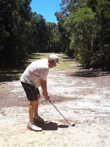 John Craig tees off at Rainbow Shores - but for how much longer?  Image supplied