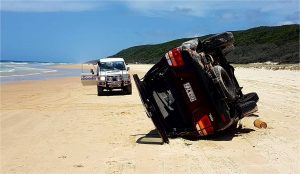Traffic incident on Fraser Island a reminder to drive to conditions