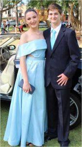Matilda Clark pictured with formal partner Jarad Steinhardt