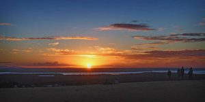 Watching the Sunset at Carlo Sandblow Image Julie Hartwig