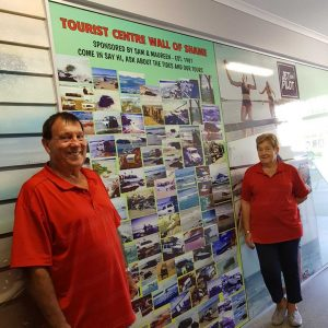 "Sam and Maureen Mitchell present their new ""Wall of Shame"""