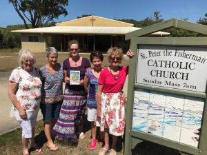 Jacquie Cross, Cherie Mason, Ann Thornton, Donna Hope, Maggie Travers invite you to The Rainbow Beach Catholic Church on March 2 for the World Day of Prayer