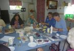 QCWA Craft Morning Tea picture - ladies enjoying a cuppa, chat and craft
