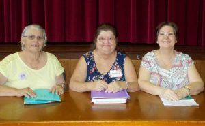The new Craft Club committee l to r treasurer Marilyn Russell, president Carmel Newton and secretary Sharon Beck