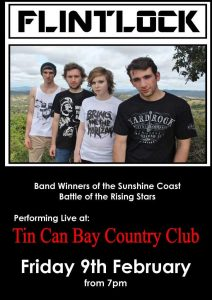 Flintock perform at the Tin Can Bay Country Club