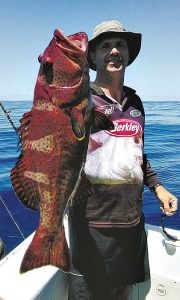 Evan Horton: thrilled with a quality Rainbow Beach coral trout