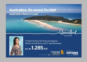 Images of Rainbow Beach continue to feature on international billboards