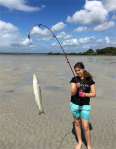 Maria Adams caught this excellent summer whiting at a Tin Can Bay Fishing Club Junior Fishing Days - on again April 8 and it is free!
