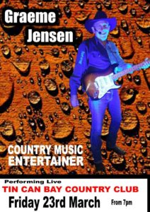 Graeme Jensen performs at the Tin Can Bay Country Club