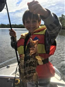 Fishing Club Club Junior, Jackson May with a nice cod