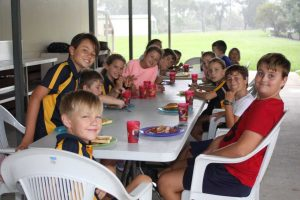 Both breakfast and fitness club have a strong attendance each Thursday morning from 7am at Rainbow Beach State School