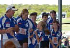 Little Athletics - The Cooloola Coast Team has a playful laugh before competition begins
