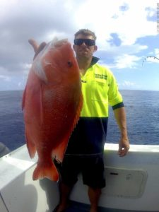 Scotty was stoked to add a nice Red Emperor to his mixed bag