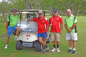 Cooroy golfers played Rex Williams, David Williams, Ross Mapleston, Jimmy Henderson