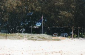 Squatters - Doodle's Inn Inskip Point 1993 They had solar power, refrigeration, Television and all amenities