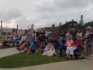 Locals & visitors at the Easter Sunday Sunrise Service