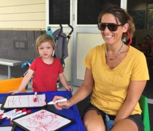Finnigan and mum Fiona enjoy time together and May 13 is the day to treat your mum for Mother's Day - pictured at Rainbow Beach playgroup