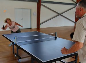 Pam and Gary give table tennis a go, come along Wednesday mornings, 9am to 11am or Wednesday evenings from 6pm to 8pm