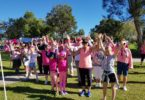 The survivor wave before the walk commenced
