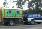 The cutest RV we saw in Ida Bay, Tasmania, a 'Home on Wheels'