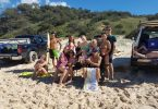 Rainbow Beach Boardriders welcome a few new faces during the May campout on Teewah Beach