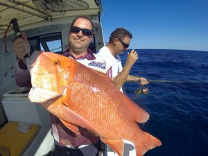Luke with one of many Red Emperor caught on Baitrunner this month
