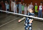 The school disco on June 21 was a huge success and the limbo competition was great fun, Riley shows how it's done!