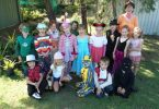 Therese and her class dress up for book week, 2012