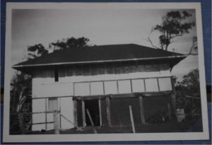 The original Wallu State School building after its removal to Bream Street, in 1937