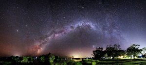 Milky Way panorama over Tin Can Bay Image Julie Hartwig Photography