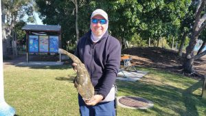 Club member Marquis Chapman recently caught a 68 cm flathead