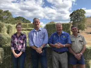 Stanley (Woolooga Hay Drive), GRC Mayor Mick Curran, Tom Grady, GRC Councillor Hilary Smerdon.