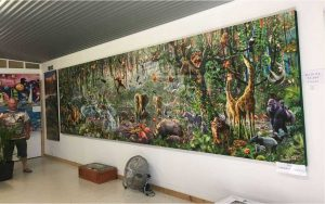 John from Imbil has built a special museum to house his completed puzzles, this one has over 40,000 pieces!