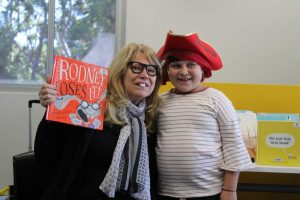 Jane from Gympie Library Lily dressed up in their 'Find Your Treasure' costumes as part of Book Fair