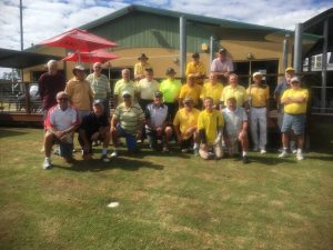 Tin Can Bay men wore yellow in support of Jarrod Lyle, 36 year old Australian former US PGA tour player who died on August 8 following his third battle with leukaemia