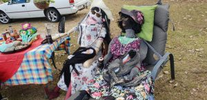Scarecrows - A Traditional extravaganza - The Aussie BBQ by Susanne Spokes.