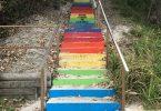 Rainbow Beach Steps Artwork
