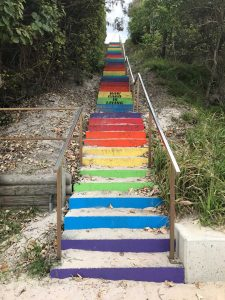 Why are such happy stairs and happy words causing such division in our community?