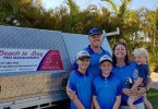The awesome Andrews family from Beach to Bay Pest Management - young Wyatt and Angus with parents Ben and Cassie and little brother Hudson
