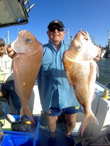 Rick and his family were treated with plenty of quality snapper in mixed bag on board Baitrunner.