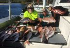 Fishing Club members with their Keely Rose haul