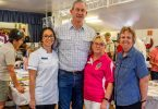Mayor Mick Curran meets stallholders and visitors at the info day
