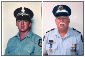 After 35 years of policing, Senior Constable Lee Jones hangs up his hat