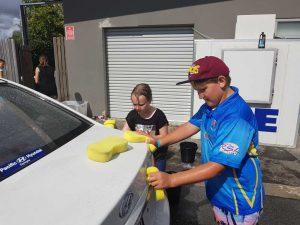 Car wash fundraiser helps Little Athletics