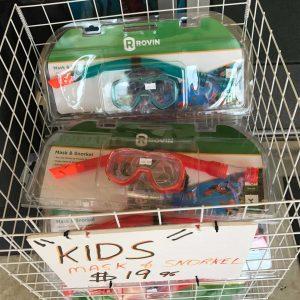 KIDS SNORKEL SETS $19.95