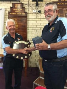 Fishing Club - Jim George - Outside Waters Champion presented by Club President, John Field